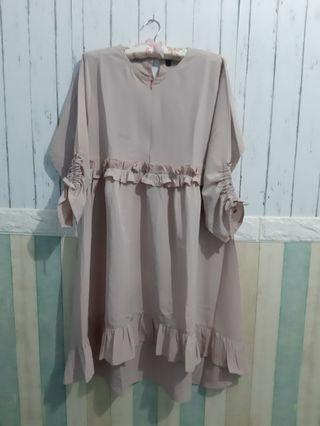 Mididress Rosy Brown