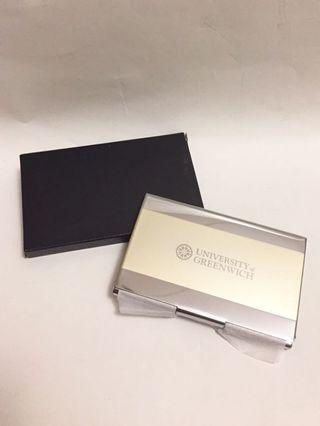 University of Greenwich name card holder 鋁質咭片盒, 全新