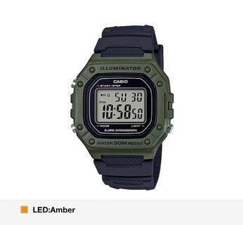 Army Green Casio Digital Watch! BN w box! Unisex