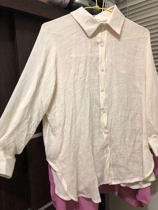 麻棉涼襯衫