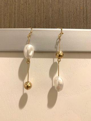 🔊限時優惠 $15包郵全新珠耳環 珍珠款耳環 ear ring 不對稱 謝師宴 grad din
