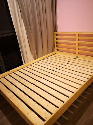 Ikea Tarva Queen Size Bed Frame