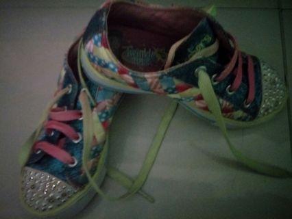 Sepatu Anak Skechers Rainbow Lampu
