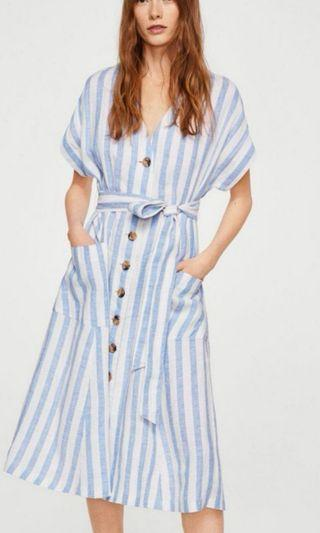 Mango Stripes maxi Dress