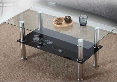 雙層玻璃茶几 coffee table