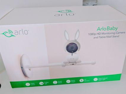Arlo Baby Monitor with Wall Mount, Table and Wall Stand + Twisted Goose Wired Cable
