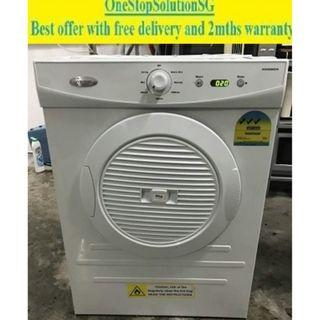 Whirlpool 6.0kg, Air Vent Dryer ($210 + free delivery & 2mth warranty