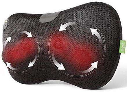 A138 - Mynt Shiatsu Massage Pillow with Heat – for Neck, Back, Shoulders, Arms and Legs.