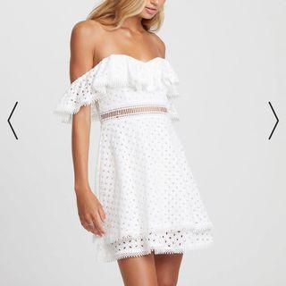 Mini White Frill Dress