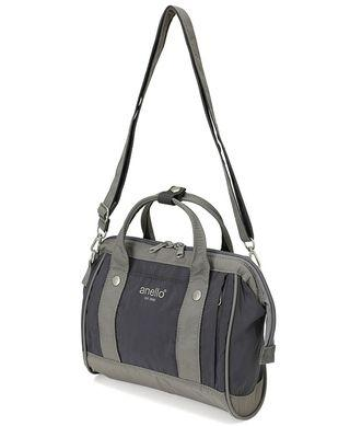 💯 Authentic cotton nylon wing mouth 2WAY mini shoulder bag - Gray