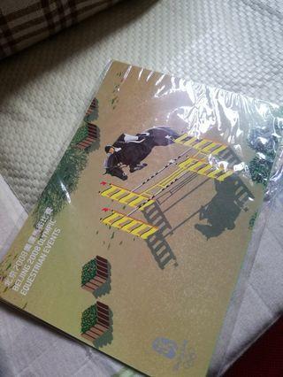 北京2008奧運馬術比賽紀念明信片一套四張