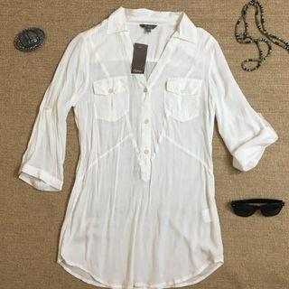Katie's Ivory colour 3/4 sleeve shirt