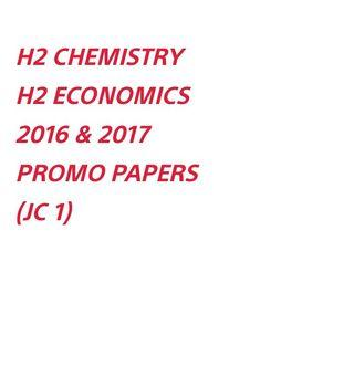 H2 CHEM / H2 ECONS PROMO PAPERS