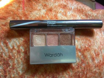 Wardah eyexepert volume & wardah nude colours