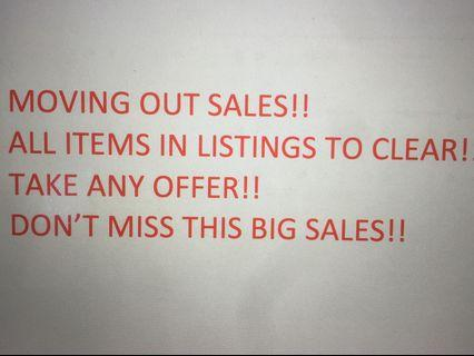 Moving out sales!! Take any offer! Collect today!