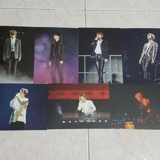 BTS Official WINGS TOUR BLU RAY Postcards