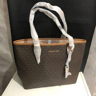 Michael Kors JS travel carryall tote sign brown size 32/42x 27 cm
