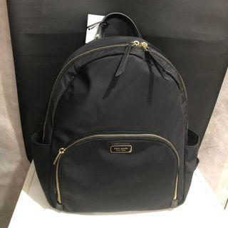 KS large backpack dawn nylon black size 30 x 36 cm
