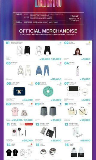 CLOSED] TWICELIGHTS TWICE CONCERT MERCHANDISE