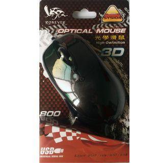 🚚 RONEVER 3D光學滑鼠 有線 800CPI
