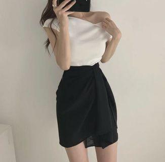 韓款不規則半身裙