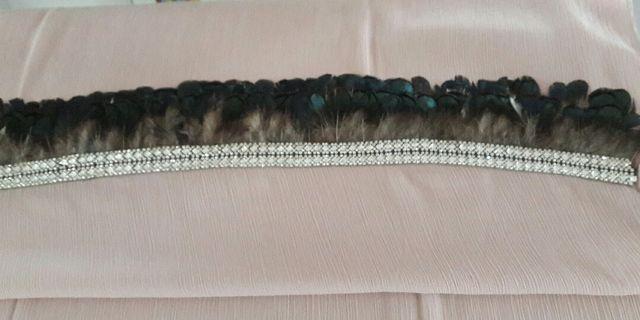 🚚 Chiffon Cerep and Saudia feather shawl