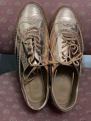 BN ASOS Shoes with shoe lace( Rose Gold Color)