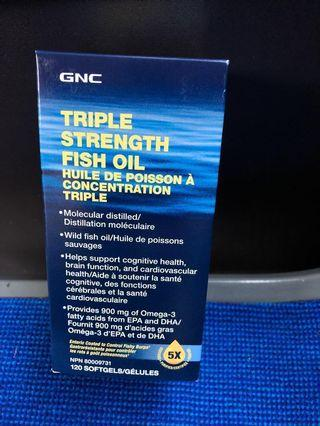 GNC triple fish oil 120 capsules