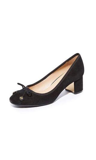 Tory Burch Laila 50mm Pump US8 猄皮 圓頭 粗跟 超新! #MTRcwb #MTRst