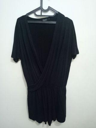 Jumpsuit black ezra by Zalora