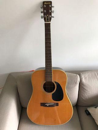 Vintage Morris guitar made in Japan 1974