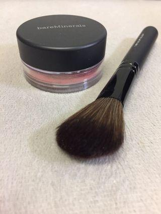 BareMinerals blush and brush