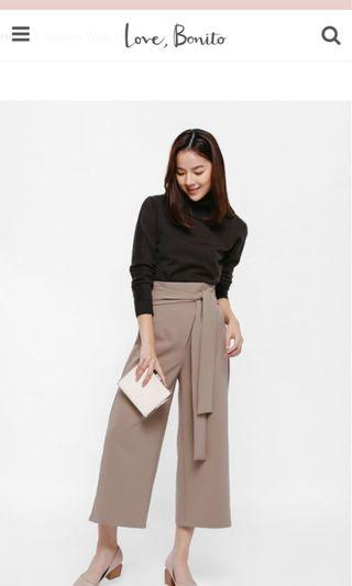 Love, Bonito Maylene Wrap Sash Pants
