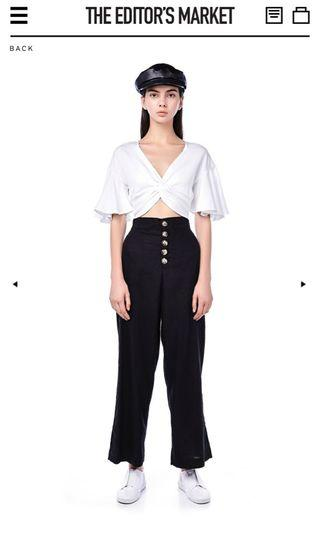 The Editor's Market Essel Knotted Crop Top