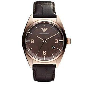 🚚 Emporio Armani Classic Brown Leather Band Men's Watch AR0367