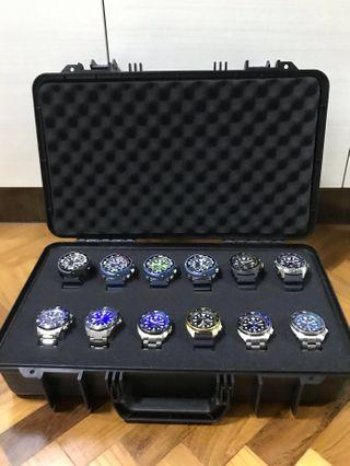 🔥🔥🔥!!! ATTENTION !!! To All Watch collectors All time favour Watch Storage case, now is here. Custom Watch Storage Case for up to 12-16 pieces of watches. Frogman/ mudmaster/ Seiko/ Casio/ G-Shock/ Gshock/ gwf/ gwg/ gmw/ dw/ gg/ ga/ frogman/ mudmaster.