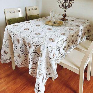 Rectangular Handmade Crochet Table Cloth