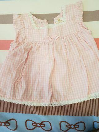 Tiny Button Baby Girl Blouse
