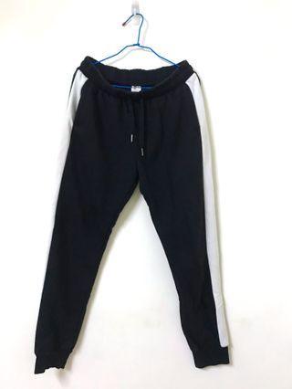 🚚 二手/黑白棉褲⚫️⚪️