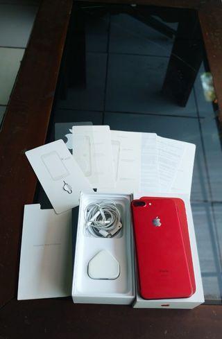 iPhone 7 plus 256GB Red Edition ex Apple Singapore Mulus