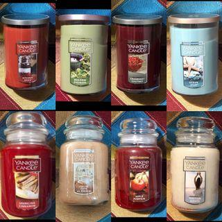 Assortment of Yankee Candle Large Jar / Tumbler