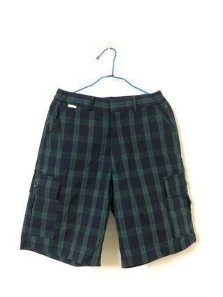 🚚 二手/綠格紋短褲🥦