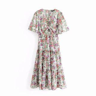 🍎Inspired Zara printed Long Dress