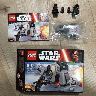 Star Wars Lego 75132 with Canon parts and 2 minifig