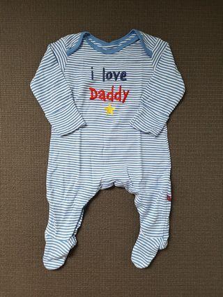 Jumper bayi biru garis putih Mothercare original sz 0 - 3 bulan