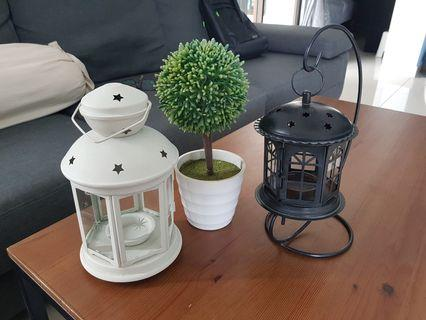 Candle light stand & flower pot