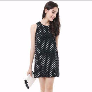 (Preloved) MDS Dress In Polka Dot - Size M