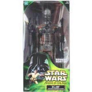 """1/6 scale POTJ vintage 13"""" tall ig-88 ig88 mint in box. Power of the Jedi bounty hunter Star Wars"""