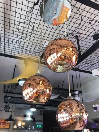 Chandeliers light