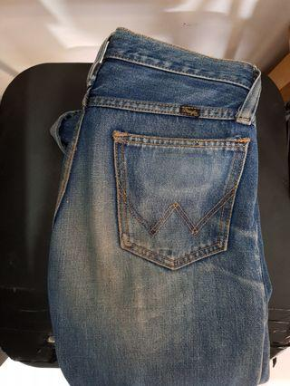 Wrangler selvedge accent